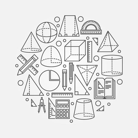 Illustration pour Trigonometry and geometry illustration - image libre de droit