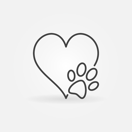 Heart With Dog Paw Vector Icon Royalty Free Vector Graphics