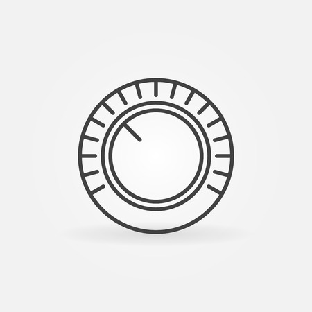 Volume vector concept icon in thin line style