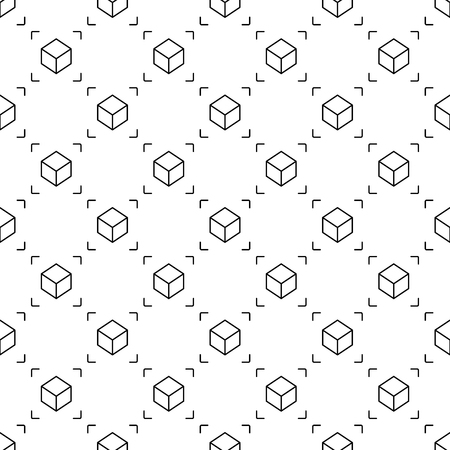 Cube seamless vector pattern. AR background