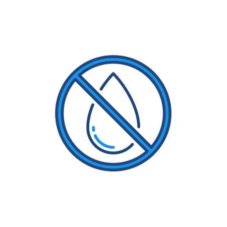 Illustration pour No Water Drop vector forbidding concept colored icon - image libre de droit