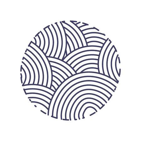 Illustration pour Simple logo design illustration logo design mono-line circle in navy color - image libre de droit