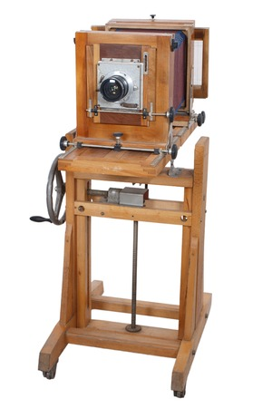 Old Wooden Big Format Camera