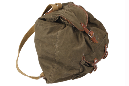 Soviet period backpack isolated on white