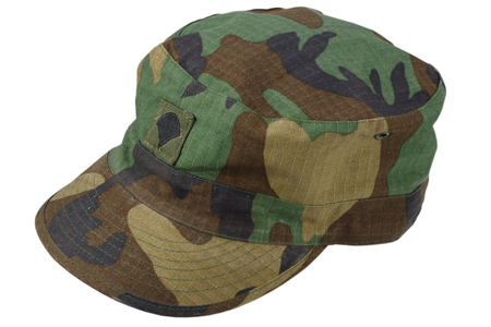us army patrol cap on a white background