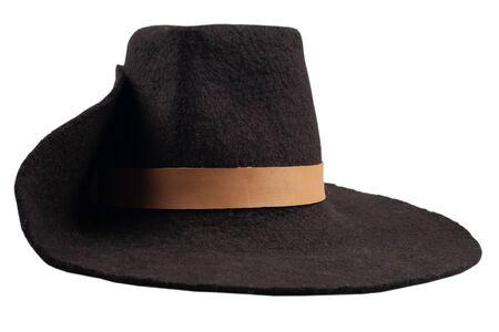 Photo pour 17th century men's vintage hat isolated on white background - image libre de droit