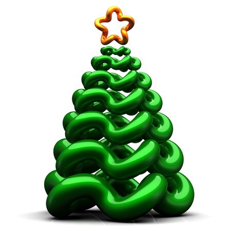 Stylized christmas tree. 3d render