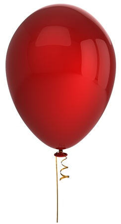Red helium balloon. This is a detailed 3D render (Hi-Res). Isolated on white backgrund