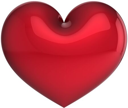 Elegance heart symbol total red. Love will save the world!