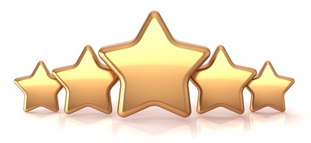 Gold stars five golden star service award business success decoration abstract. Best top quality rating excellent favorite favorite winner concept