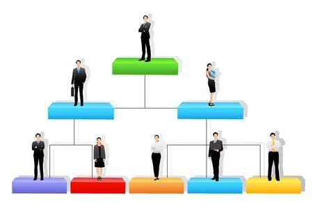Illustration pour  Organization Tree - image libre de droit