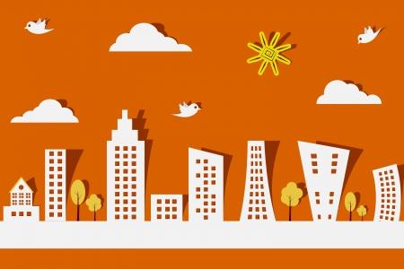 Illustration pour Paper City - image libre de droit