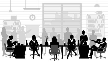 Vektor für business people during a meeting - Lizenzfreies Bild