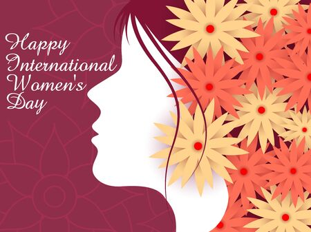 Illustration pour easy to edit vector illustration of beautiful woman for Happy International Women's Day greetings Background - image libre de droit