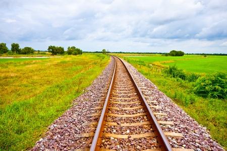 railway on field