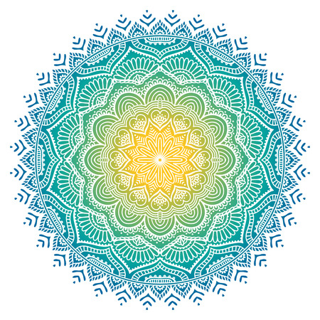 Illustration pour Ornament beautiful  card with mandala. Geometric circle element made in vector - image libre de droit