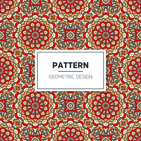 Illustration pour Seamless mandala islamic pattern. Vintage islamic elements - image libre de droit
