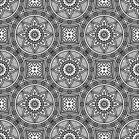 Illustration pour Seamless pattern. Vintage decorative elements - image libre de droit