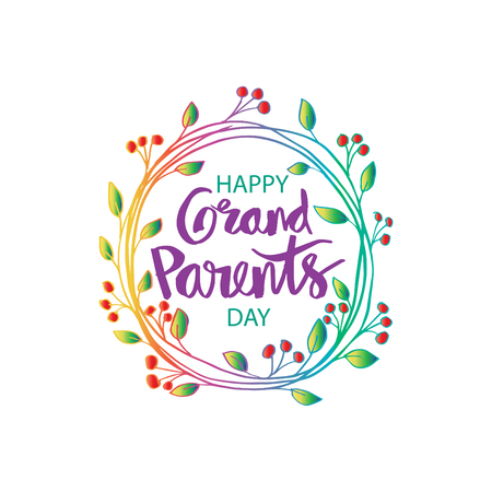 Illustration for Happy grandparents day - Royalty Free Image