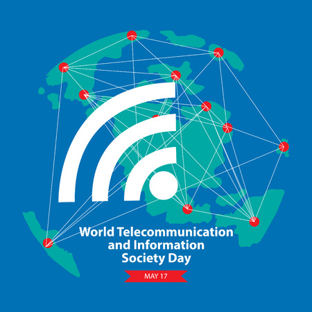 Illustration pour World Telecommunication and Information Society Day. - image libre de droit