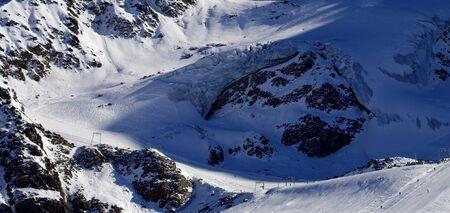 Ski lift below the Kaunertal Glacier in Austria