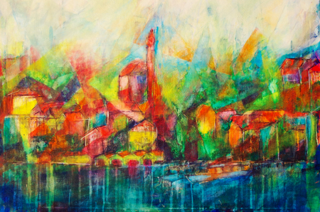 Starnberg in Oberbayern painted abstractly