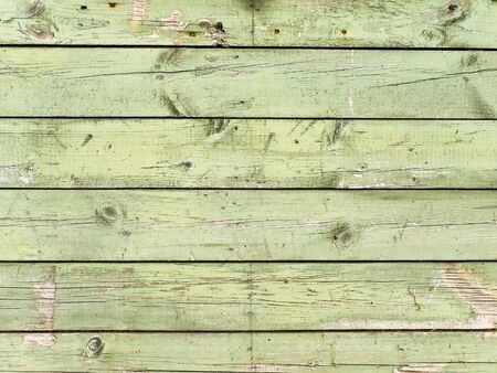 painted in green old wooden background