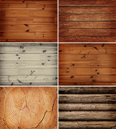 set of different wooden backgrounds