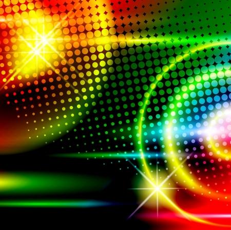Illustration pour abstract multicolored disco background - image libre de droit
