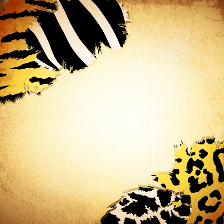 Vintage background with some animal print patterns, copyspace for your text