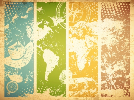 Vintage Travel Abstract Grunge Background