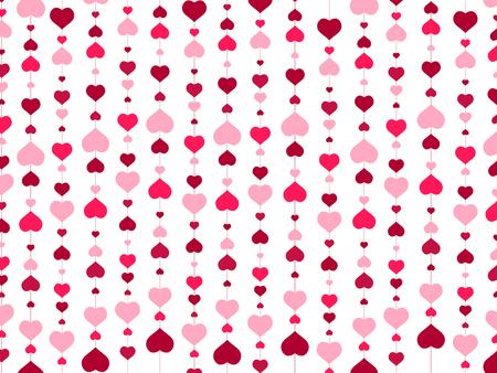Illustration pour St.Valentine day Abstract Heart Background - image libre de droit