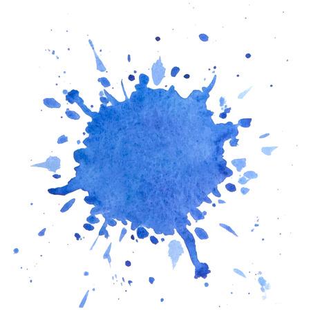 Paint splash. Vector watercolor design element.