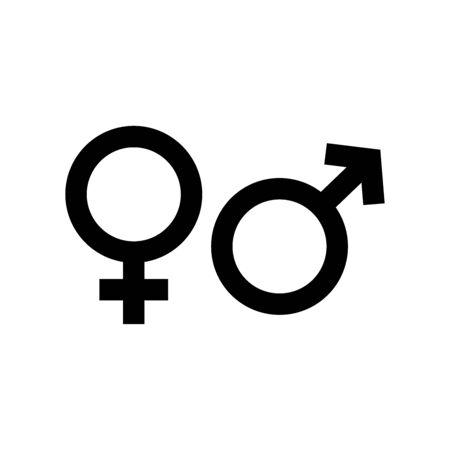 Ilustración de Gender symbol. design template vector - Imagen libre de derechos