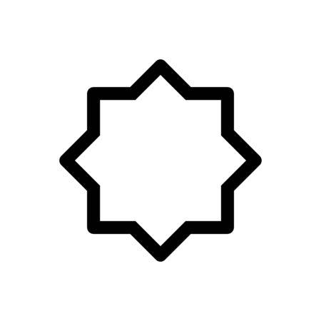 Illustration pour Islamic symbol line eight point star vector shape. Design template vector - image libre de droit
