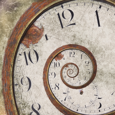 Foto de Close-up of a vintage Rusty clock swirl - Imagen libre de derechos