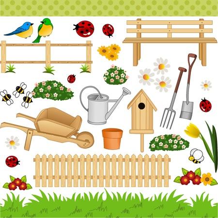 Illustration pour Garden digital collage - image libre de droit