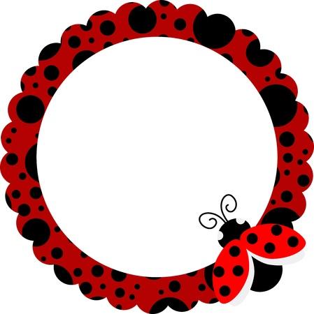 Ladybug Circle Frame