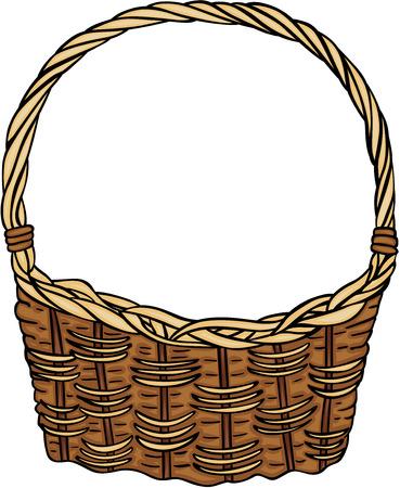 Illustration pour Wicker basket empty - image libre de droit