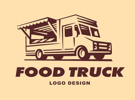 Ilustración de Different of food truck have a retro look - Imagen libre de derechos