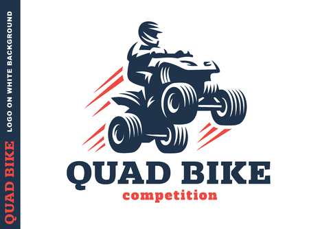 Illustration pour Quad bike competition.  design on a white background - image libre de droit