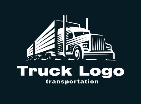 Photo for Logo illustration of a truck with trailer - Royalty Free Image