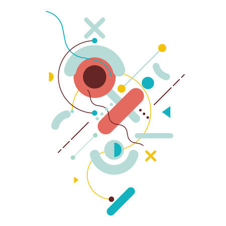 Illustration pour Abstract geometric background. Modern vector illustration flat design. - image libre de droit