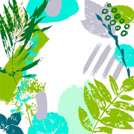 Illustration pour Spring, Plants, Nature. Hand Drawn textures. Party invitations. Poster. Vector. - image libre de droit