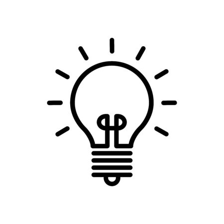 Illustration for Light Bulb Icon Design Logo Vector Template And Illustration Sign And Symbol - Royalty Free Image
