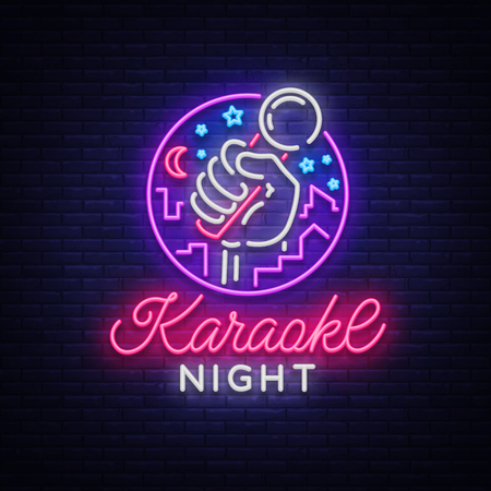 Illustration for Karaoke night vector. - Royalty Free Image