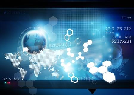 Foto de World Technology Background. - Imagen libre de derechos