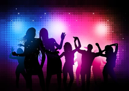 Party People Background - dancing young people.