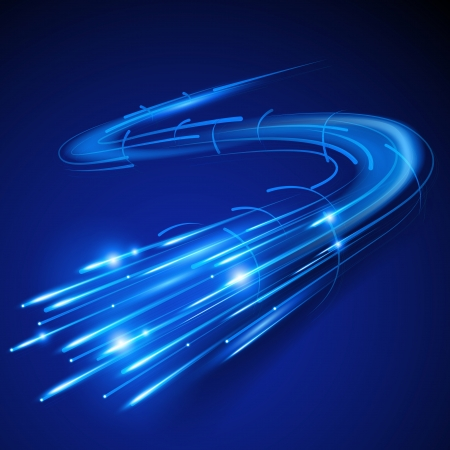 Super Fast Fiber Optic  illustration
