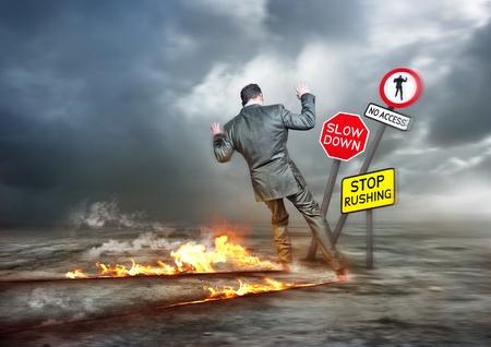 Foto de Business concept - Hurry Up and Slow Down - Imagen libre de derechos